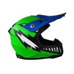 GMX Motocross Junior Helmet Green - Large