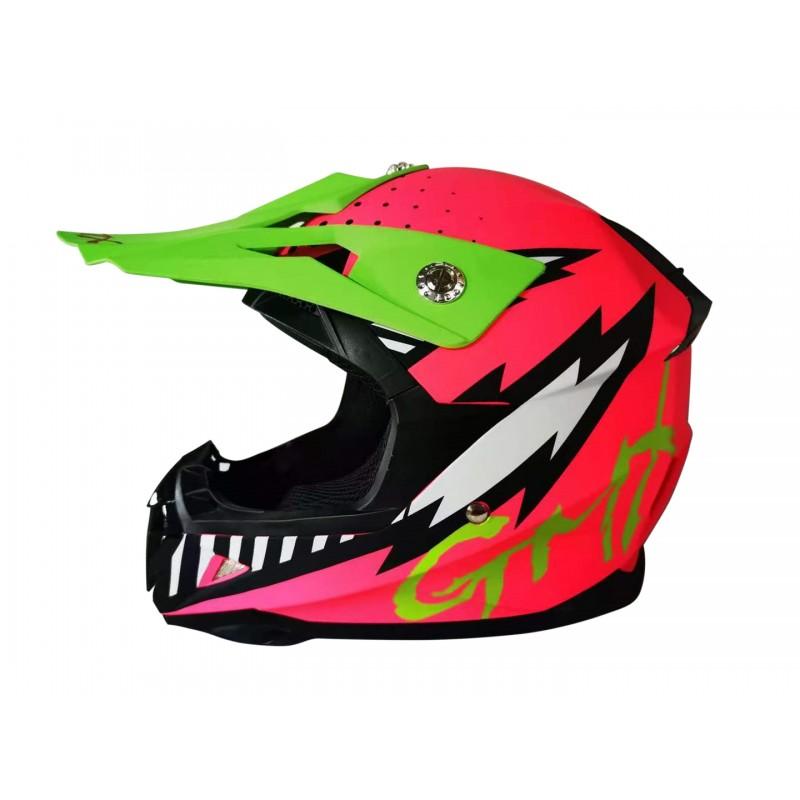 GMX Motocross Junior Helmet Pink - Small