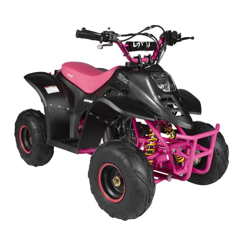 GMX 110cc Ripper-X Junior Kids Quad Bike -Black / Pink