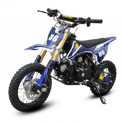 GMX 90cc Dirt Bike Small Wheel Blue