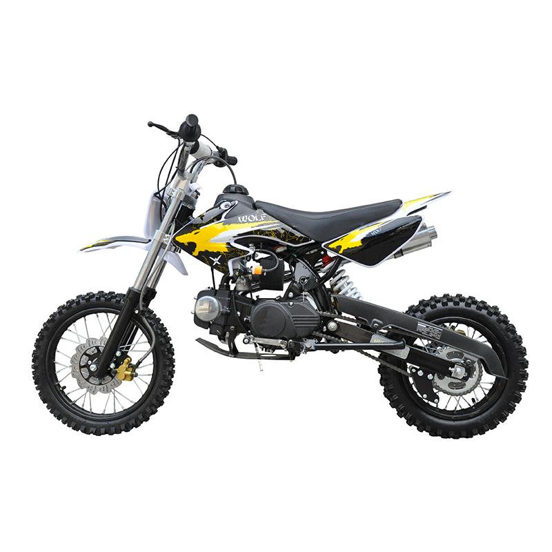 MW 125cc Dirt Bike Small Wheel Yellow