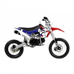 GMX 125cc Blaide Dirt Bike Blue/Red